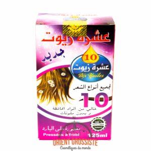10 huiles pour cheveux (Lot de 6)