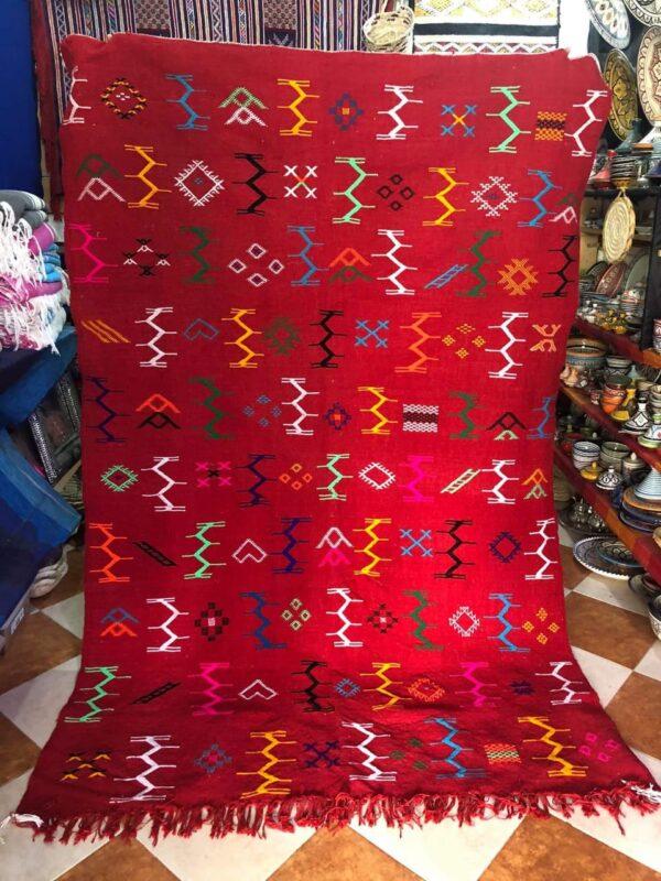 Tapis berbère Hanbal Rouge de Oued-Zem (Livraison gratuite)