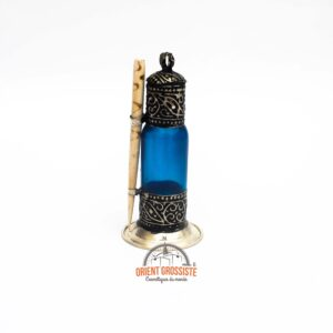 Flacon à Khôl traditionnel bleu – fait main (Lot de 6)